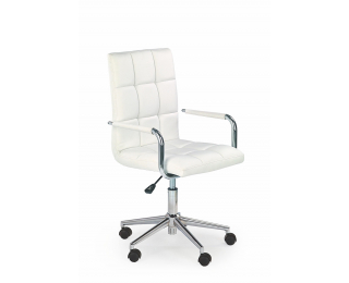 Kancelárske kreslo s podrúčkami Gonzo 2 - biela / chróm