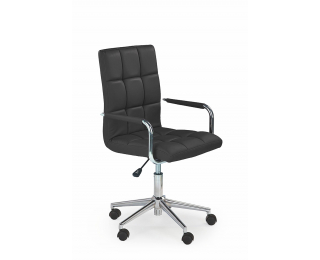 Kancelárske kreslo s podrúčkami Gonzo 2 - čierna / chróm