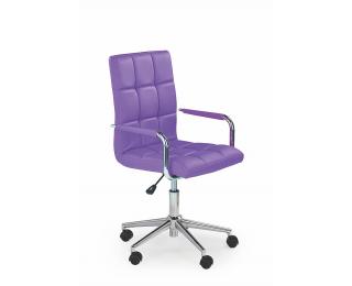 Kancelárske kreslo s podrúčkami Gonzo 2 - fialová / chróm