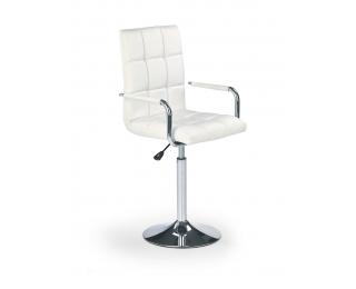 Barová stolička Gonzo - biela / chróm