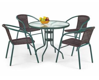 Záhradný stolík Grand 80 - tmavozelená