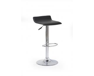 Barová stolička H-1 - čierna / chróm
