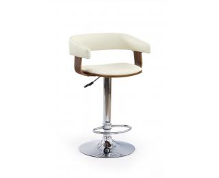 Barová stolička H-12 - orech / béžová / chróm