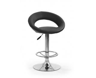 Barová stolička H-15 - čierna / chróm