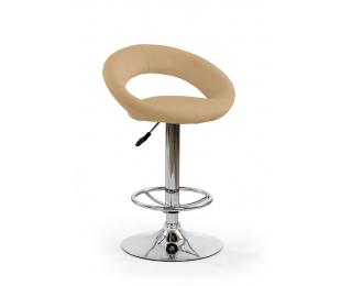 Barová stolička H-15 - krémová / chróm