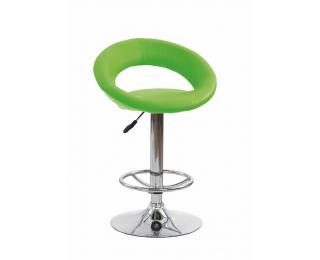 Barová stolička H-15 - limetková / chróm