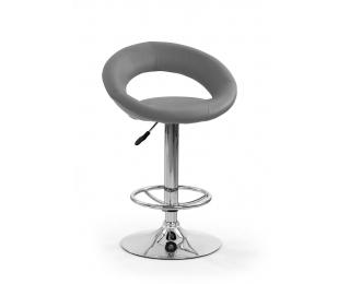 Barová stolička H-15 - sivá / chróm