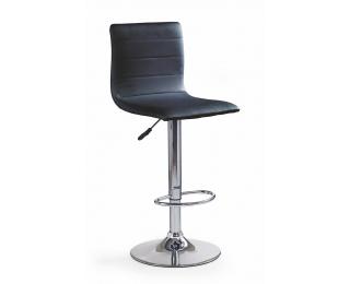 Barová stolička H-21 - čierna / chróm