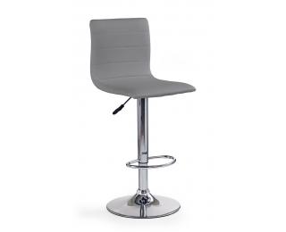 Barová stolička H-21 - sivá / chróm
