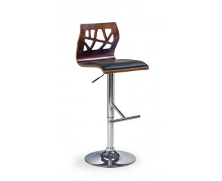 Barová stolička H-34 - orech / čierna / chróm