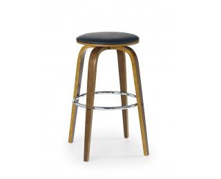 Barová stolička H-39 - orech / čierna