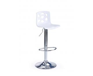 Barová stolička H-48 - biela / chróm