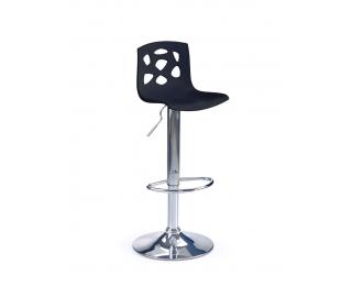 Barová stolička H-48 - čierna / chróm