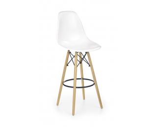 Barová stolička H-51 - biela / buk