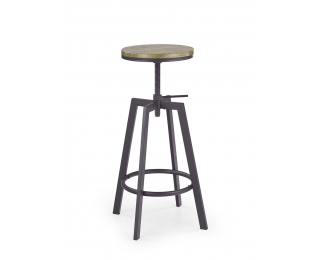 Barová stolička H-64 - coffee-old vasion / čierna