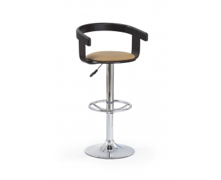 Barová stolička H-8 - wenge / kávová / chróm