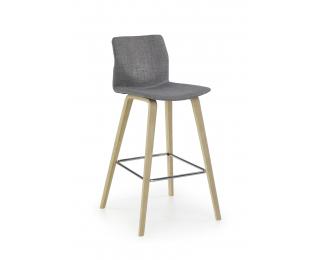 Barová stolička H-80 - sivá / svetlý buk