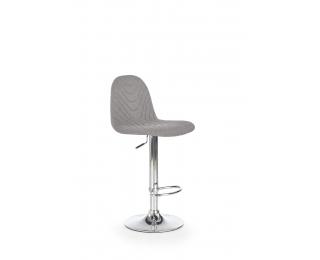Barová stolička H-82 - sivá / chróm