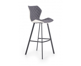 Barová stolička H-83 - biela / sivá / čierna