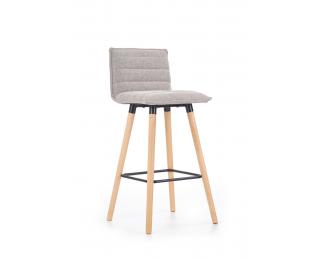 Barová stolička H-85 - svetlosivá / buk