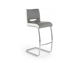 Barová stolička H-87 - sivá / biela