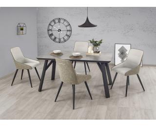 Jedálenský stôl Halifax - betón / čierna