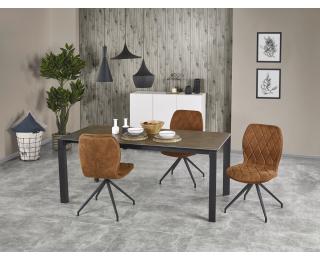 Rozkladací jedálenský stôl Horizon - dymová / čierna