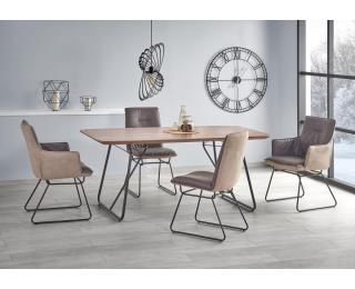 Jedálenský stôl Houston - orech / čierna
