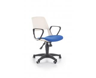 Detská stolička na kolieskach s podrúčkami Jumbo - biela / modrá