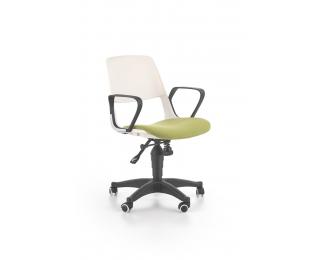 Detská stolička na kolieskach s podrúčkami Jumbo - biela / zelená