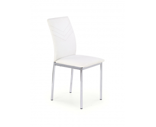 Jedálenská stolička K137 - biela / chróm