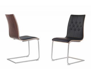 Jedálenská stolička K190 - čierna / orech