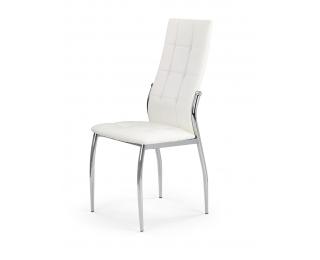 Jedálenská stolička K209 - biela / chróm