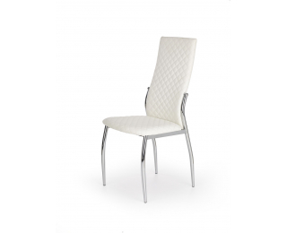 Jedálenská stolička K238 - biela / chróm