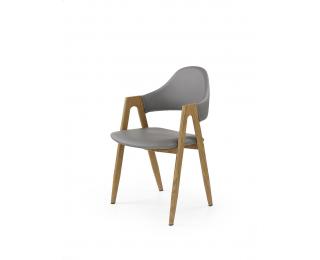 Jedálenská stolička K247 - sivá / dub medový