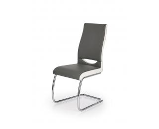 Jedálenská stolička K259 - sivá / biela