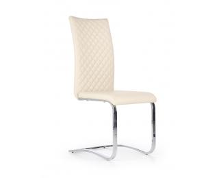 Jedálenská stolička K293 - krémová / chróm