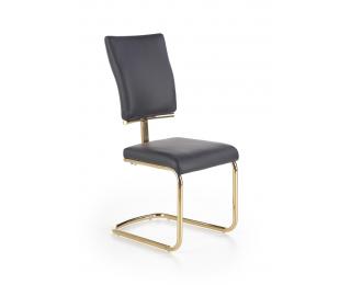 Jedálenská stolička K296 - čierna / zlatá