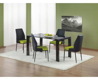 Sklenený jedálenský stôl Kevin - čierny lesk