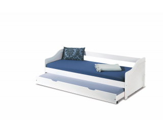 Rozkladacia posteľ s prístelkou Leonie 2 90 - biely lesk