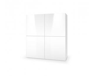 Komoda Livo KM-100 - biela / biely lesk