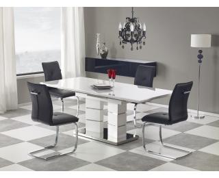 Rozkladací jedálenský stôl Lord 160/200 - biely lesk
