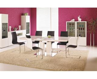 Rozkladací jedálenský stôl Lorenzo - biely lesk