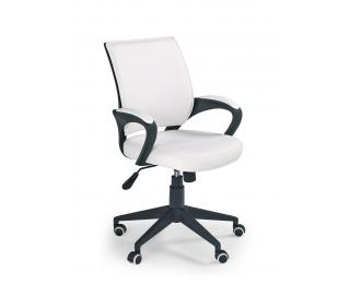 Kancelárske kreslo s podrúčkami Lucas - biela / čierna