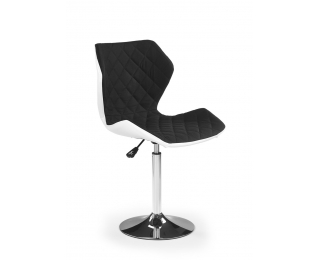 Barová stolička Matrix 2 - čierna / biela / chróm
