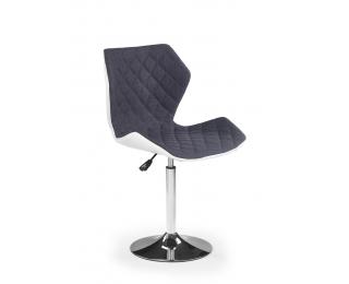 Barová stolička Matrix 2 - sivá / biela / chróm