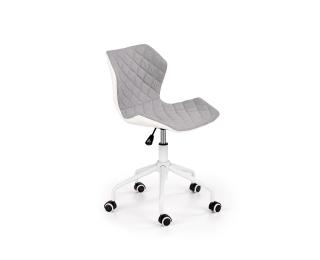 Detská stolička na kolieskach Matrix 3 - biela / sivá