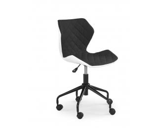 Detská stolička na kolieskach Matrix - čierna / biela