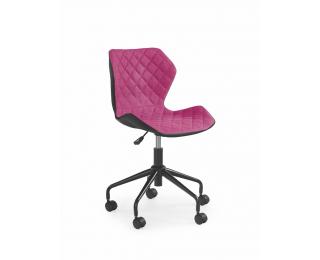 Detská stolička na kolieskach Matrix - ružová / čierna