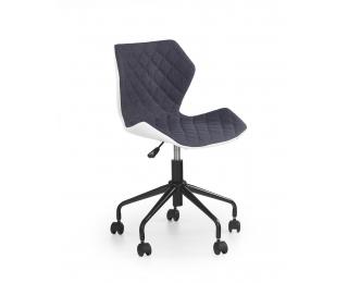 Detská stolička na kolieskach Matrix - sivá / biela